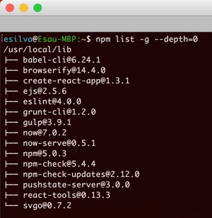 npm-list-global